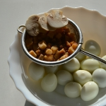 Cooked quail eggs