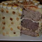 Meat cake slice