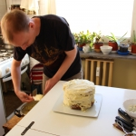 Covering the cake