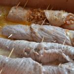 Half ready meat rolls