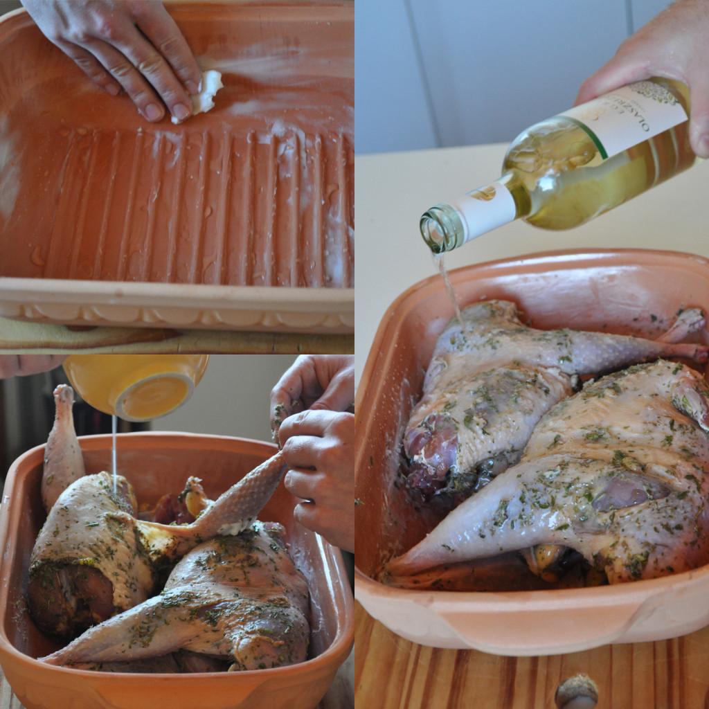 Pheasants in the dish